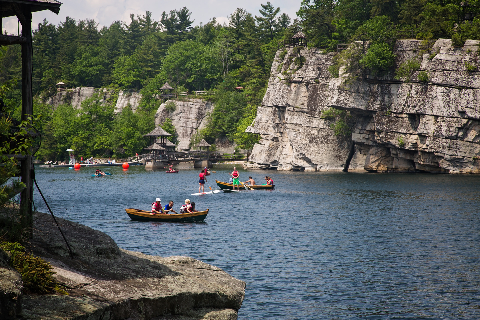 Water sports at the Mohonk Mountain House